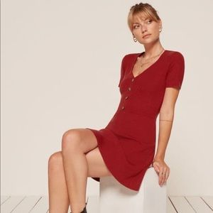Reformation Cardinal Red dress